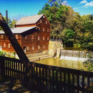 The historic Pine Creek Mill and It's perfect backdrop of Wildcat Den State Park flowing past and surrounding it's landscape.