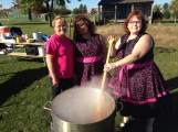 The Domestic Divas brought their famous chili, chipper competitive nature and a bunch of cinnamon rolls to much on!