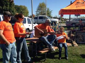 The Webster County Pheasants Forever club brought their guitar, custom chili song, and a secret ingredient for their chili. OK it's pheasant. Why spend the whole day guessing. https://www.facebook.com/WebsterCountyPheasantsForever?fref=ts