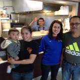 Meet the El Oasis family. Rigoberto (the Adidas supporter) and his daughters Monica and Cristal who help run the family business with Osman cooking on the line.