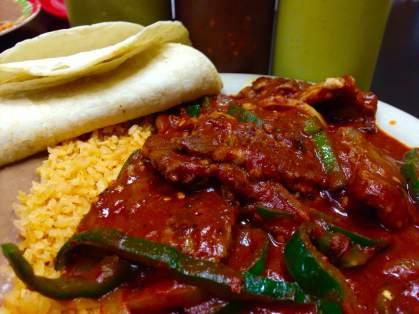 """The """"C12"""" Bistec a la Mexicana Steak Dinner at La Regia Taqueria in Iowa City"""