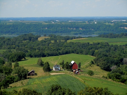 The Mississippi River valley near Balltown