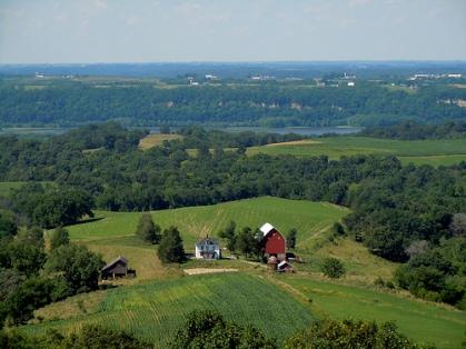 The Mississippi River valley near Balltown