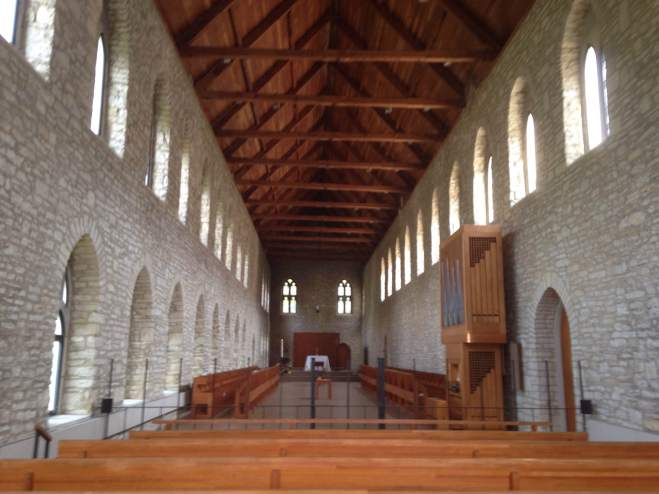 Inside the church of New Melleray Abbey.