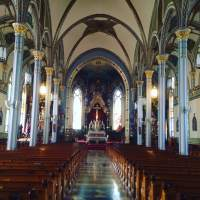 Inside the Basilica of Saint Francis Xavier. Dyersville, IA.
