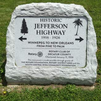 Road trip enthusiasts make their way through Leon as they motor through the historic Jefferson Highway.