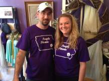 The Petunia Firm of Michael and Kayleigh are geared up. Like the shirts? they have those for sale too.