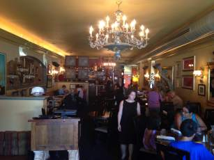 Cafe Dodici's dining room is stunning! The decor has you feeling like you've been swept into a European Cafe. One of the best restaurant experiences in all of Iowa.
