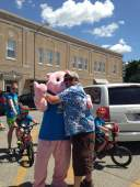 There's going to be a pig kiss too. Just not on this day.