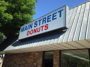 Just down the street from the main drag is Main Street Donuts! 120 East Madison Street, Washington, Iowa.