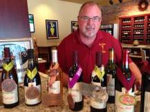 Meet Mark who tending to the wine bar when we arrived. Always ready showcase these award winning Iowa wines.
