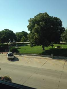 A view of the town square from DZ Loft.