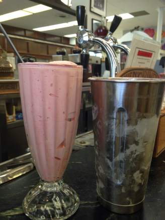 Classic Strawberry Malt at Jay Drug Co. in Shenandoah, Iowa