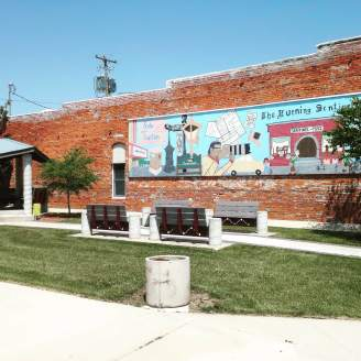 One of the many public murals in Shenandoah, Iowa.