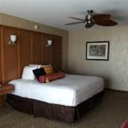 Our very comfortable room at the Isle in Waterloo, Iowa