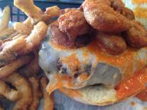 The Ass Kick'n Burger at First Street Grill in Keosauqua, IA.