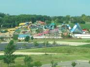 View from our room at the Isle in Waterloo, Iowa