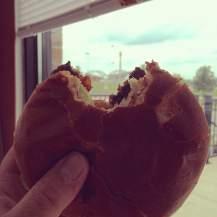 A burger near Centennial Park in Davenport