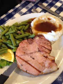 Another Iowa staple. Locally smoked pork chops!