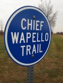 Near Chief Wapello's grave in Agency.