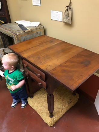 The desk that the Iowa State Constitution was signed on.