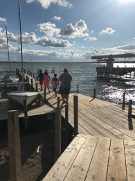 Walking the docks in Clear Lake