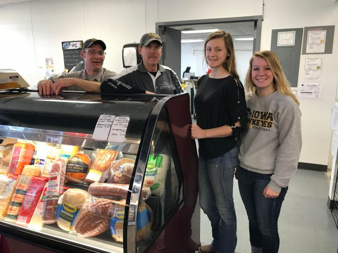 The crew at S&S Locker in Osage, Iowa