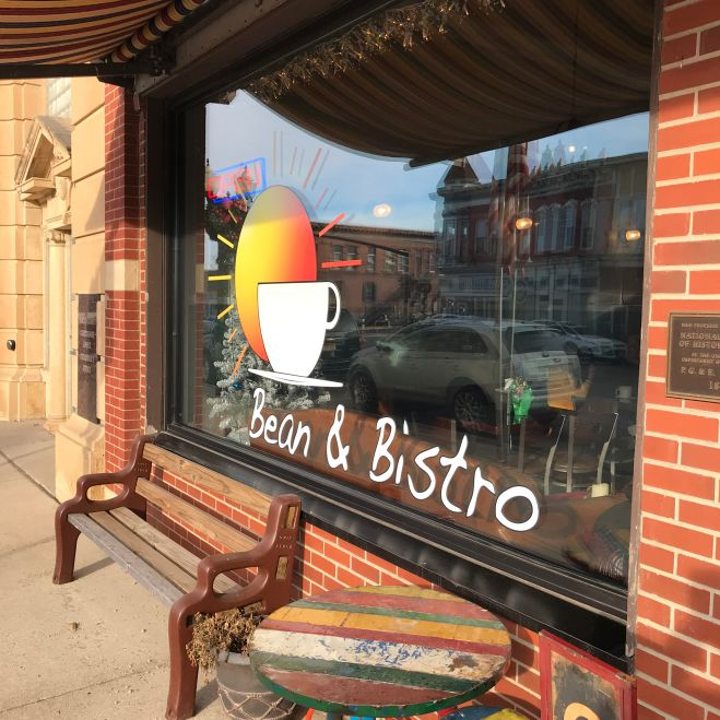 Bean & Bistro coffeehouse in Northwood, Iowa