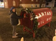 Santa's mailbox in Northwood, Iowa