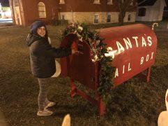 Santa's mailbox in Northwood, Iowa