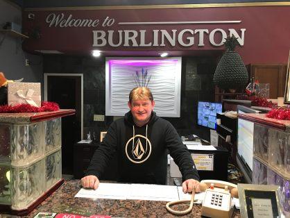 Co-Owner Jerry Fenton Jr. of the Arrowhead Motel in Burlington, Iowa.