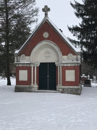 Family mausoleum in Aspen Grove Cemetery in Burlington, Iowa