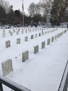 Civil War vets at Aspen Grove Cemetery in Burlington, Iowa