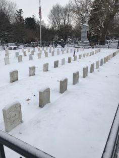 Civil War vets at Aspen Grove Cemetery in Burlington, Iowa