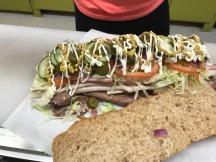 Huge sub sandwich in Manchester, Iowa