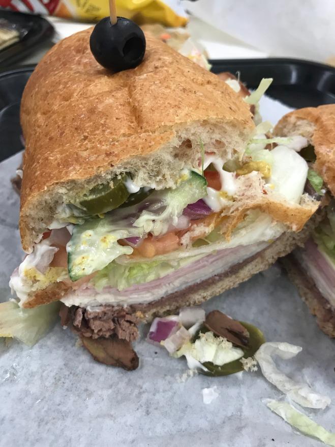 Deli sandwich in Manchester, Iowa