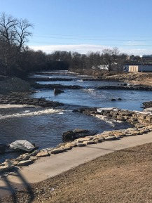 Maquoketa River in Manchester, Iowa