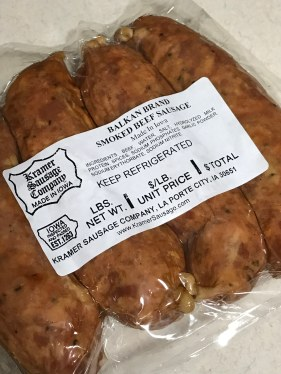 Balkan sausage from Kramer's in La Porte City, Iowa