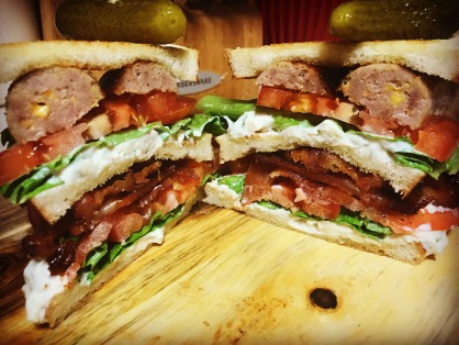 Bacon and Cheese Filled Bratwurst from Gilbertville Locker-Gilbertville, Iowa